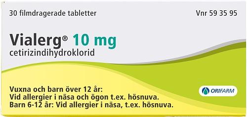 02439c594c44 Vialerg filmdragerad tablett 10 mg - Köp tryggt på Apoteket