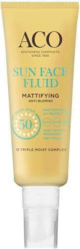 ACO Sun Face Fluid Mat SPF 50+