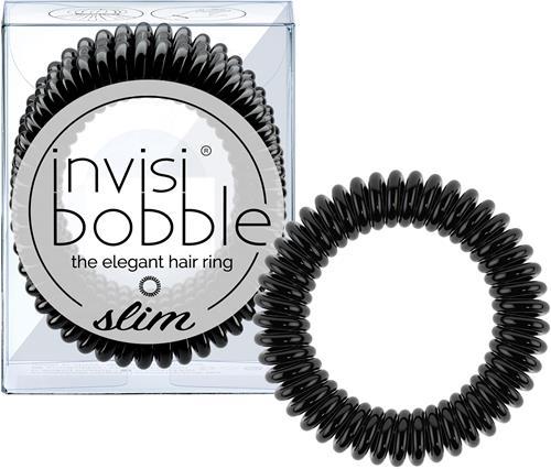 Invisibobbles Slim True Black Hårsnodd 3p